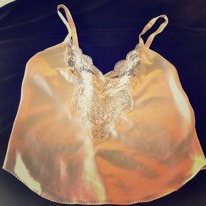 Camisole Creamy color with lace bodice.Very pretty